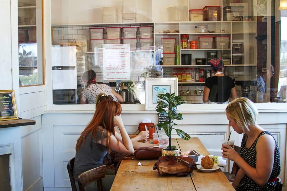 Photographie du café Sweetleaf dans le Queens