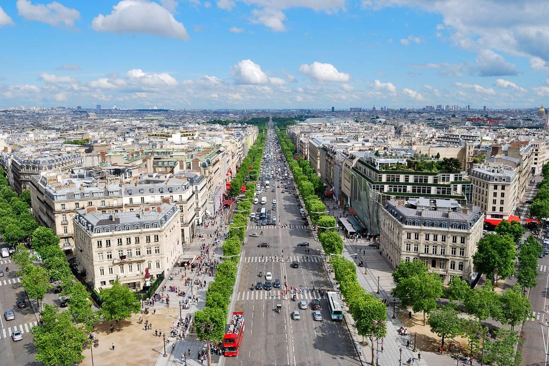 Photo de l'avenue des Champs-Élysées