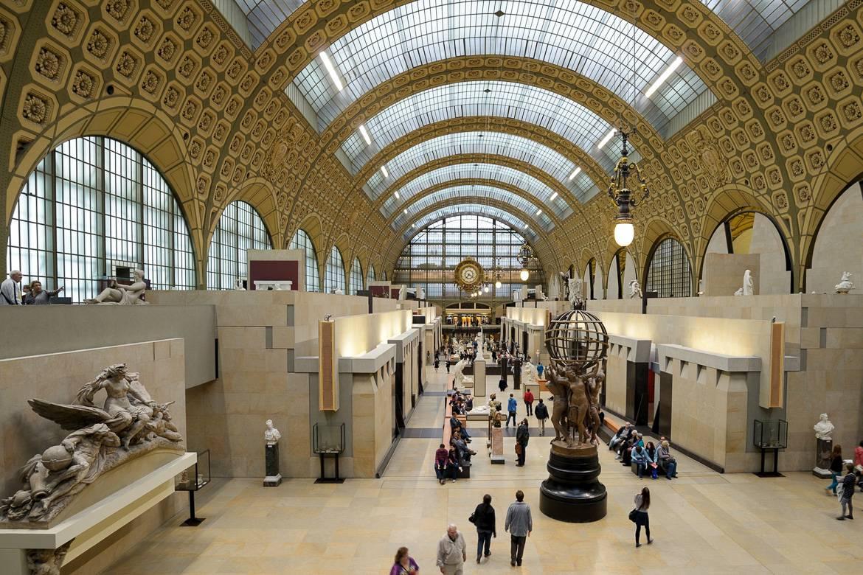 Photo du musée d'Orsay prise de l'intérieur