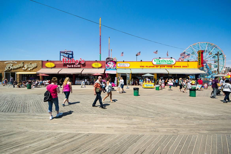 Photo de la promenade en bois à Coney Island