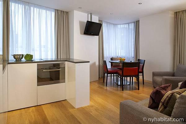 Photo d'un appartement T3 situé dans Earls Court, à Londres.