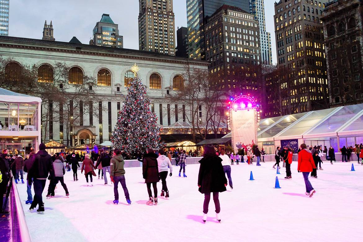 photo de la patinoire de Bryant Park