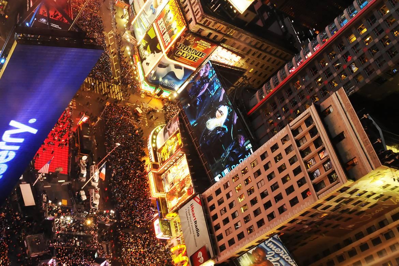 Photo du réveillon du Nouvel An sur Times Square