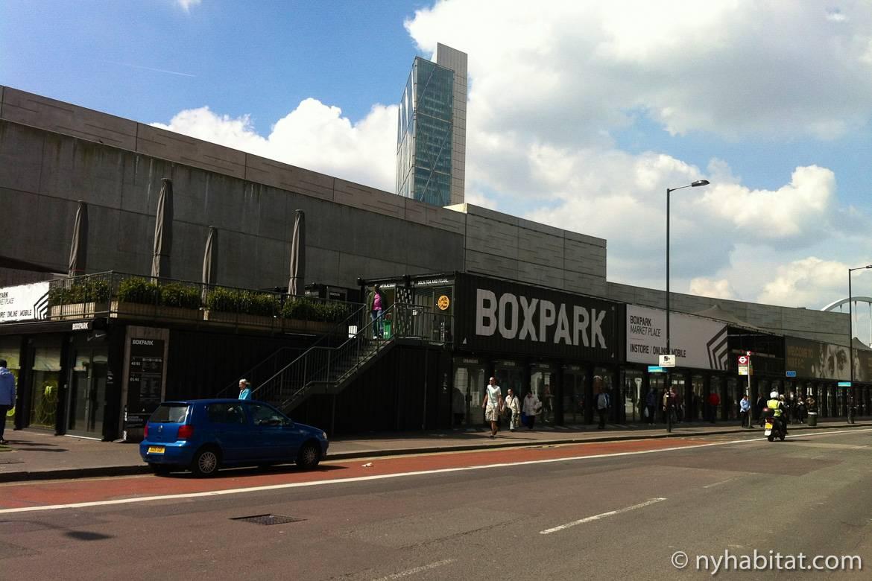 De jolis magasins vous attendent à Boxpark Shoreditch