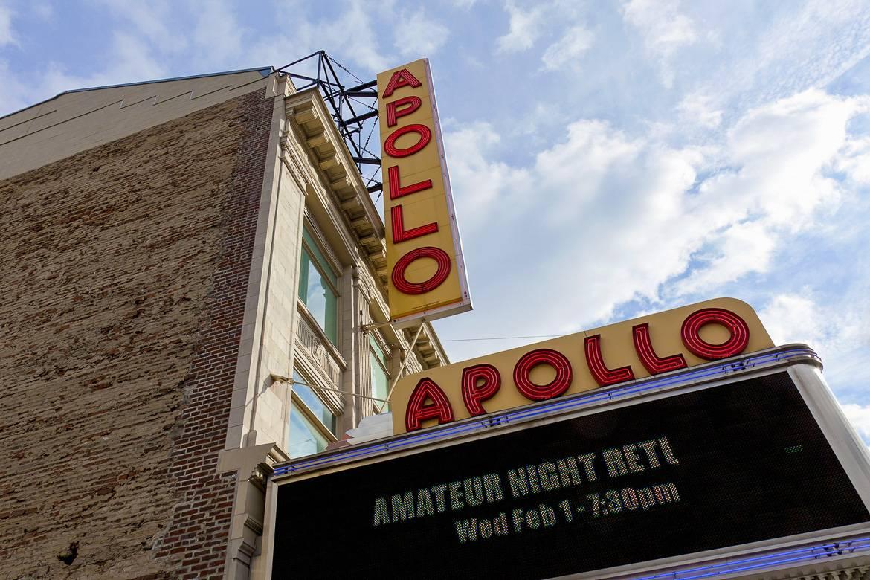 Photo du fronton de l'Apollo Theater