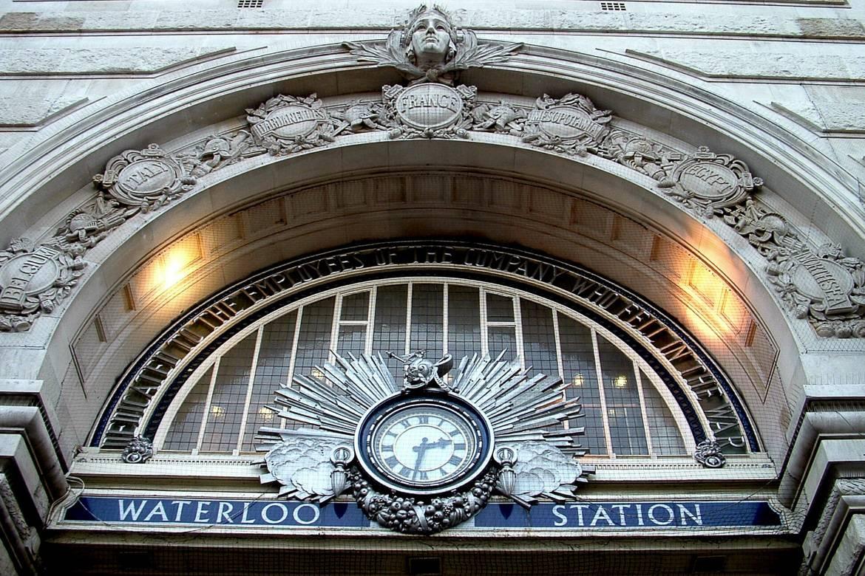 L'entrée de la gare de Londres Waterloo