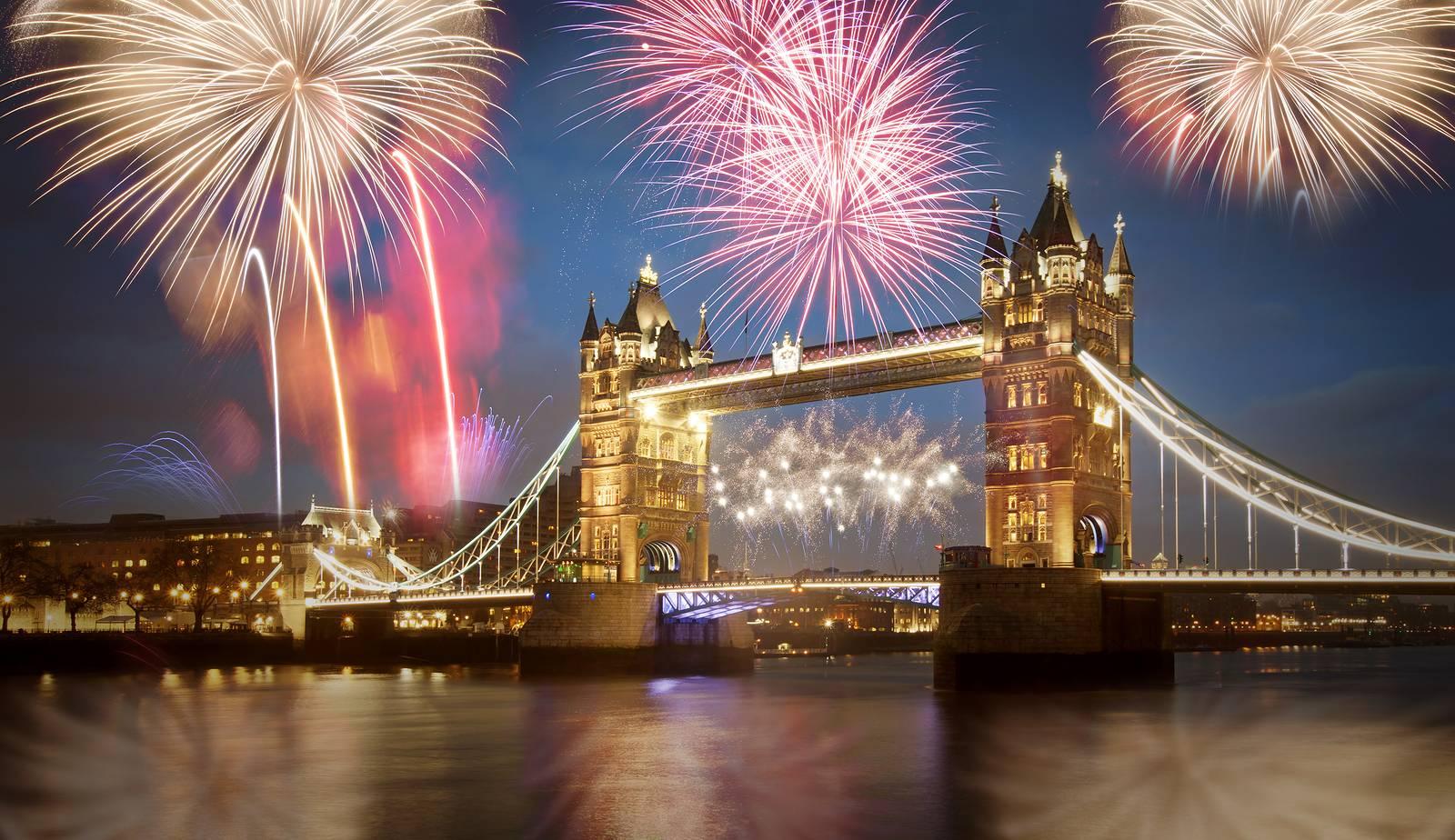 Photographie du feu d'artifice du nouvel an