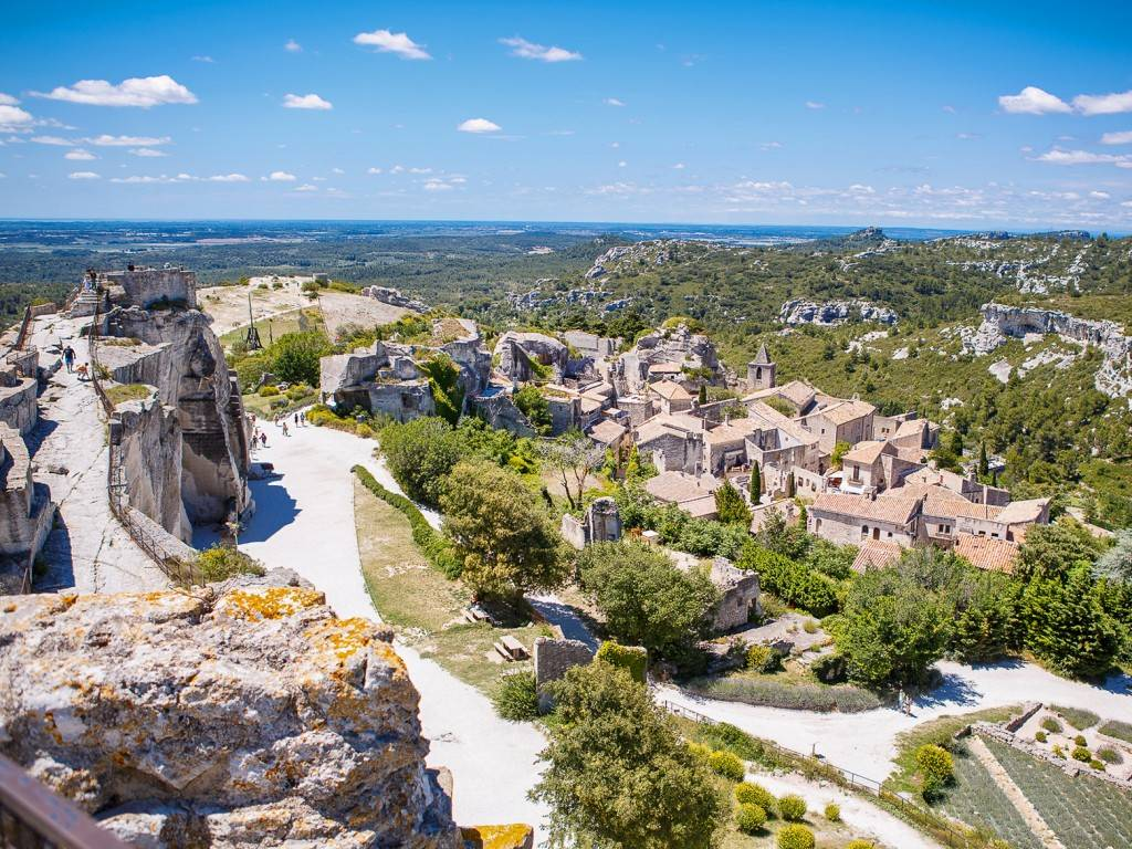Photo du village des Baux-de-Provence