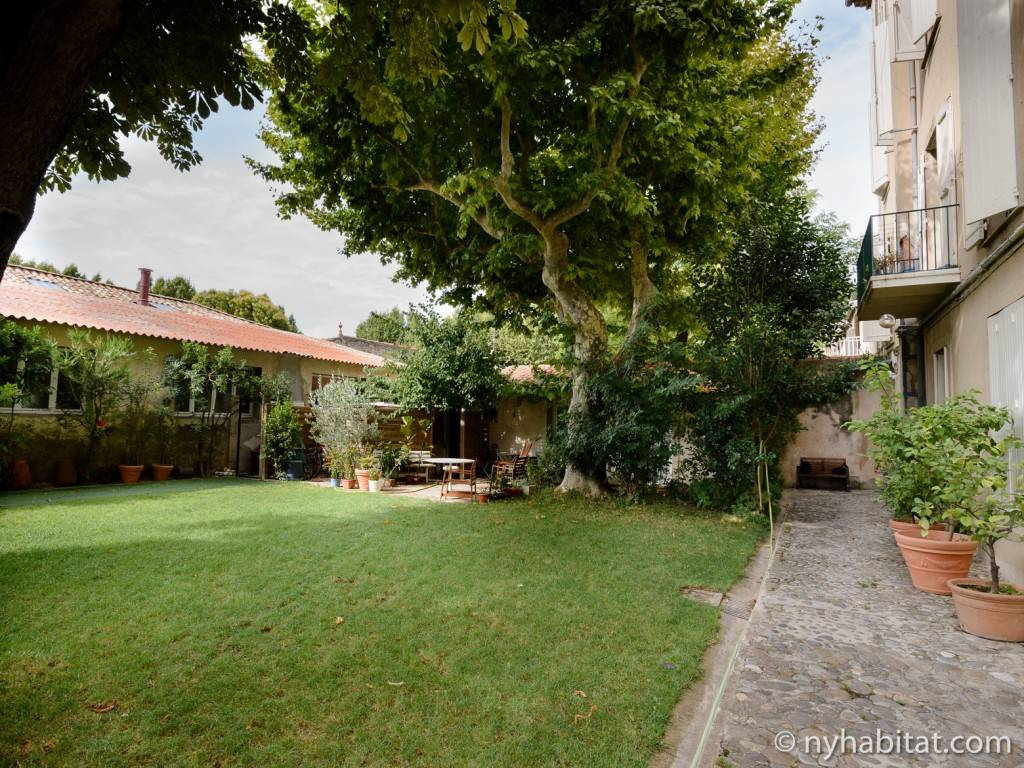 Photo d'un jardin près d'Aix-en-Provence