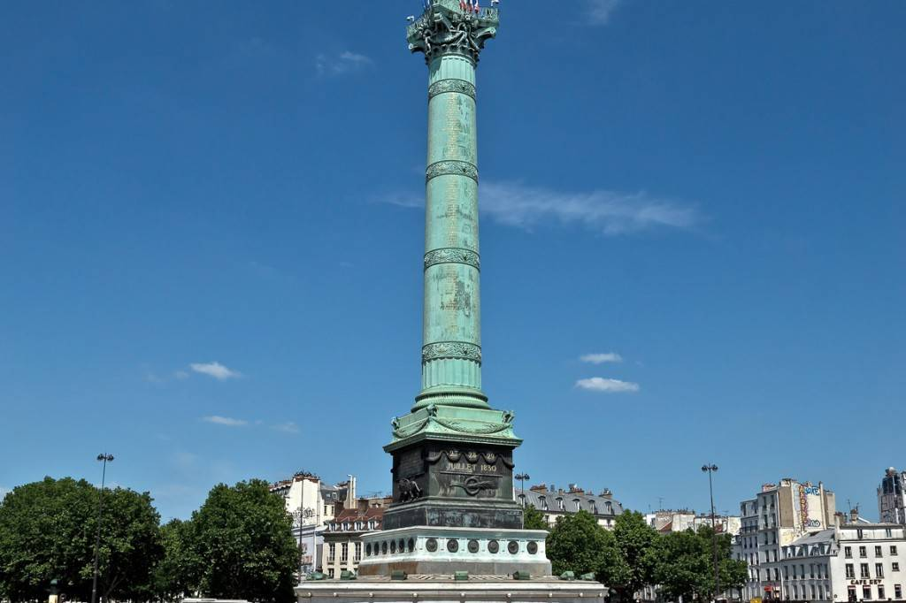 Photo de la colonne de Juillet sur la place de la Bastille