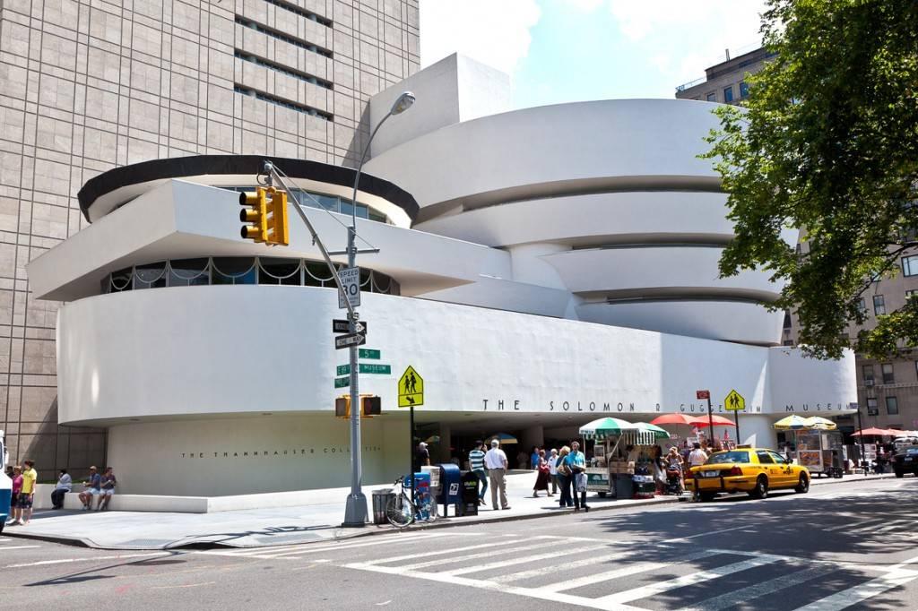 Photo de l'extérieur du musée Guggenheim