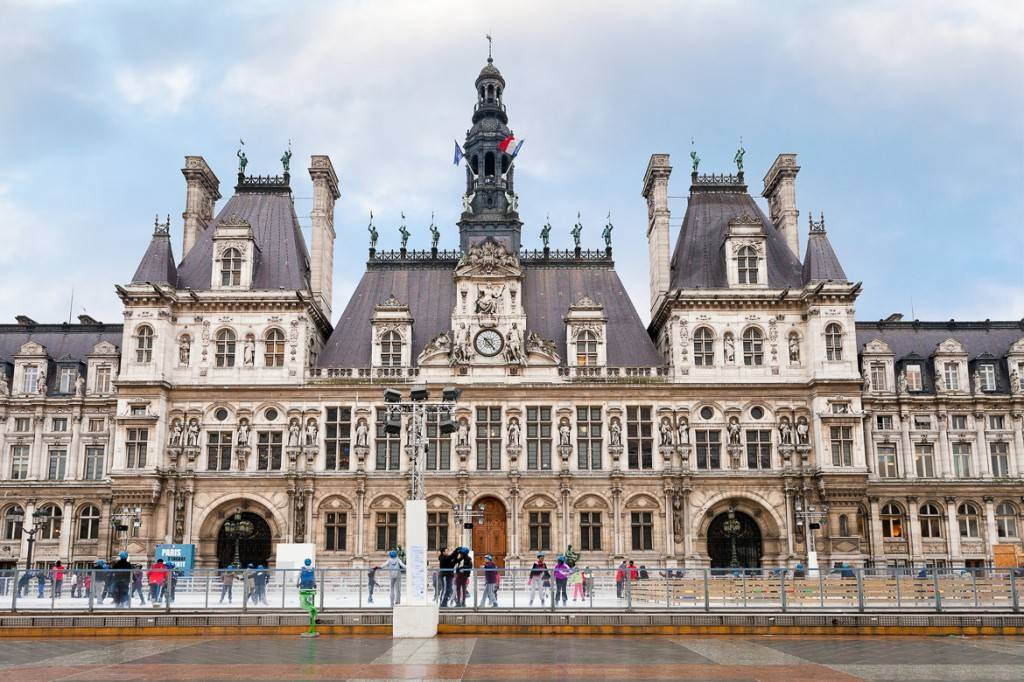Photo de la patinoire de la place de l'Hôtel de ville