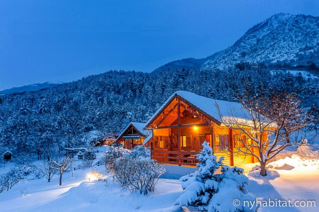 Photo d'un chalet alpin, location de vacances PR-954
