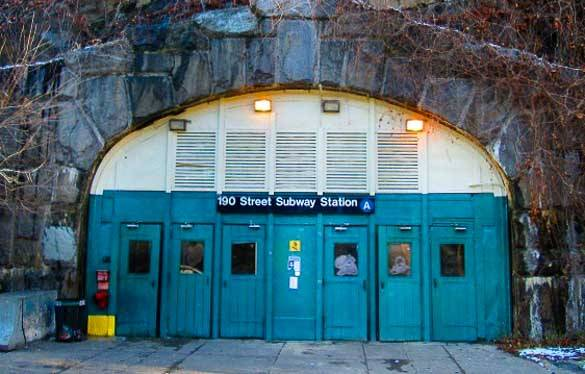 Photo de la station de la 190ème rue