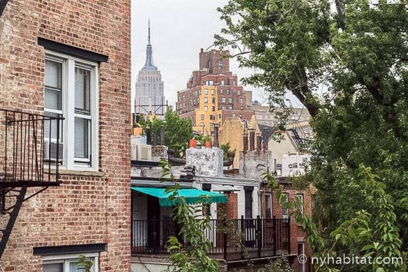Photo de la vue sur l'Empire State Building depuis l'appartement NY-16306