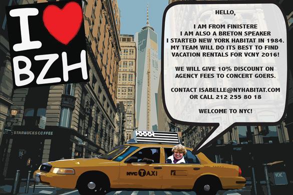 Photo de la fondatrice et présidente de New York Habitat, Marie Reine Jézéquel, dans un taxi