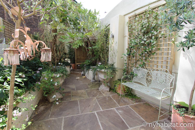 Photo du jardin de l'appartement LN-1725.