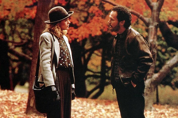 Photographie de Meg Ryan et de Billy Crystal à Central Park dans une scène du film Quand Harry rencontre Sally