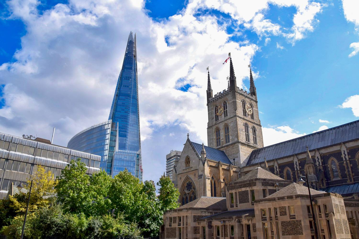 Photo du Shard depuis le quartier londonien de Southwark.