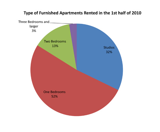 Type of Furnished Apartments Rented in the 1st half of 2010