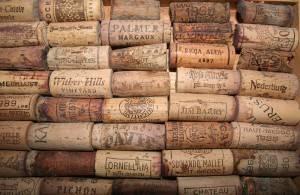 Tappi di vini francesi, italiani e tedeschi