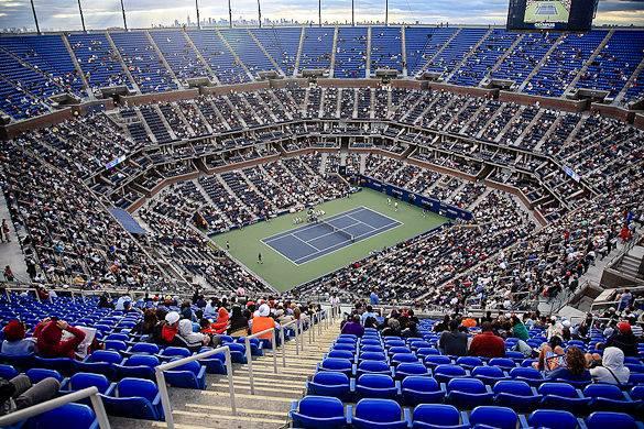 L' Arthur Ashe Stadium nel Queens durante gli US Open