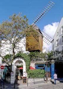 Lo storico Moulin de la Galette a Montmartre