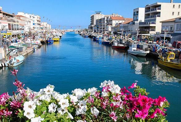 Foto del canale sulla stazione balneare di Palavas-les-Flots