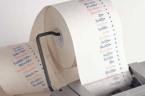 L'immagine di una ricevuta che rappresenta costi aggiuntivi