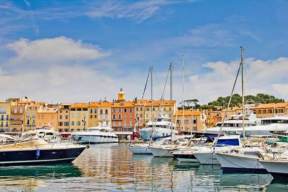 Foto del porto di Saint-Tropez
