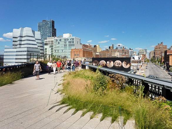 Immagine dell' High Line Park di Manhattan a Chelsea. Foto di Francois Roux