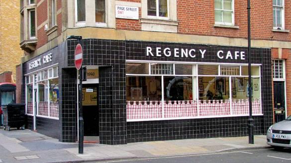 Il Regency Café a Westminster, Londra