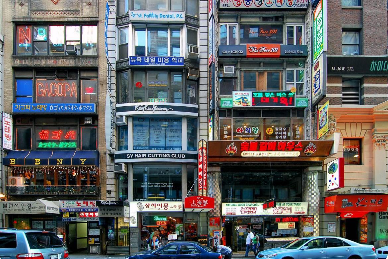 Foto della Koreatown a Midtown Manhattan, New York City