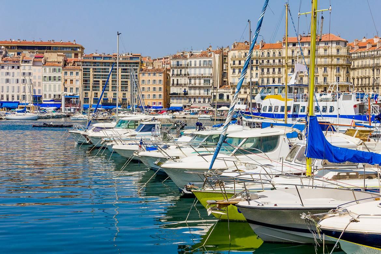 Immagine del Vieux-Port di Marsiglia nel sud della Francia