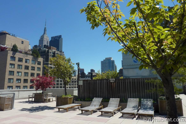 Immagine della terrazza di un appartamento con camere da letto a Chelsea