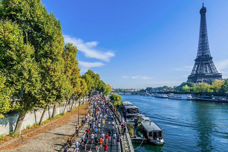 Immagine della Maratona di Parigi.