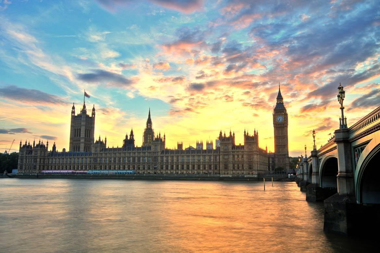 Immagine del Palazzo di Westminster e del Big Ben.