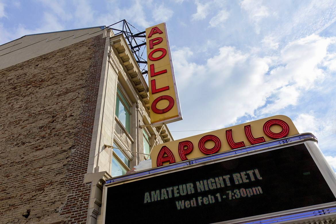 Foto dell' ingresso dell' Apollo Theater