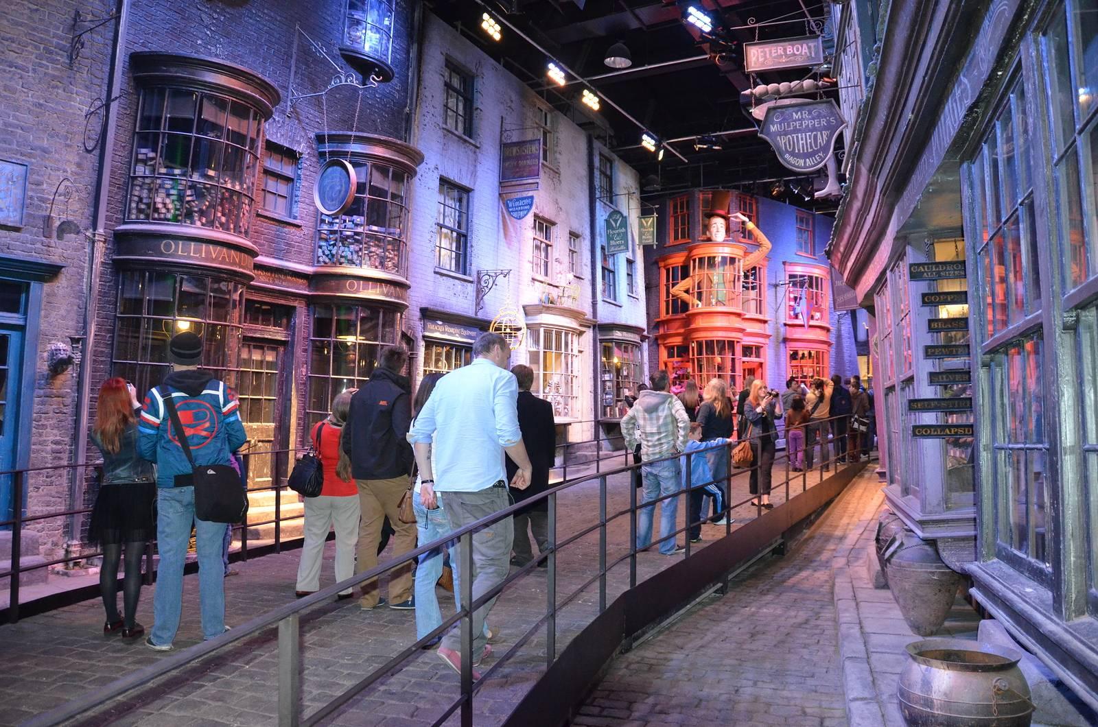 Foto del set di Diagon Alley di Harry Potter