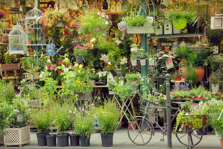 Foto di un mercato dei fiori