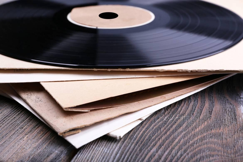 Foto dei dischi di vinile.