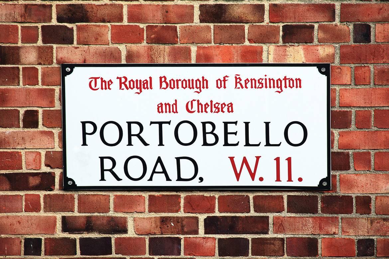 Foto di un cartello di Portobello road