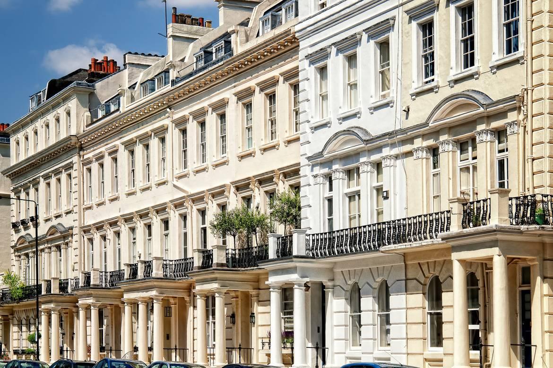 Foto delle townhouse di Notting Hill.