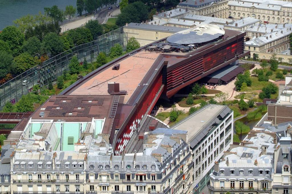 Immagine dall'alto del Museo del Quai Branly