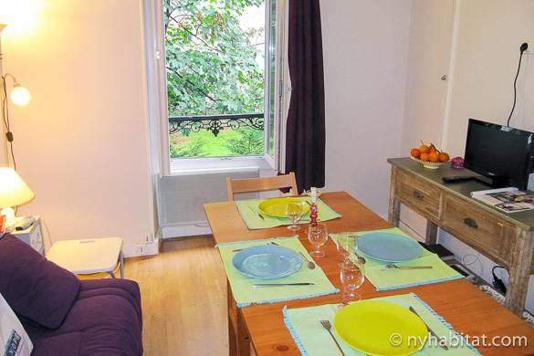Immagine del salotto dell'appartamento monolocale PA-4534