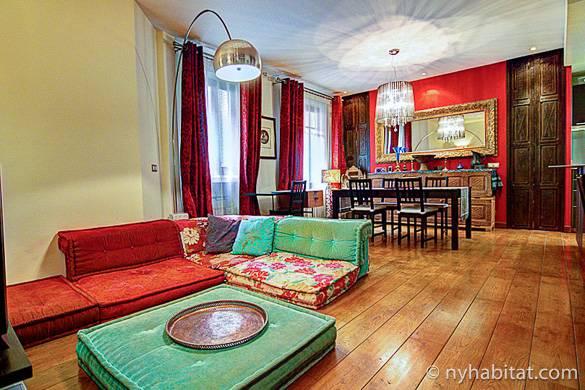 Foto della zona giorno dell'appartamento PA-4559