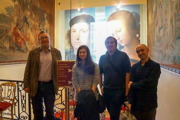 Foto degli studenti presso la Reid Hall di Parigi