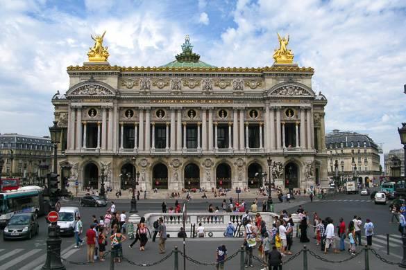 Foto della facciata del Palais Garnier