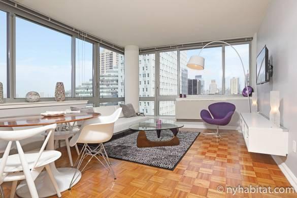 Immagine dell'appartamento in affitto con una camera da letto completamente ammobiliato NY-16788