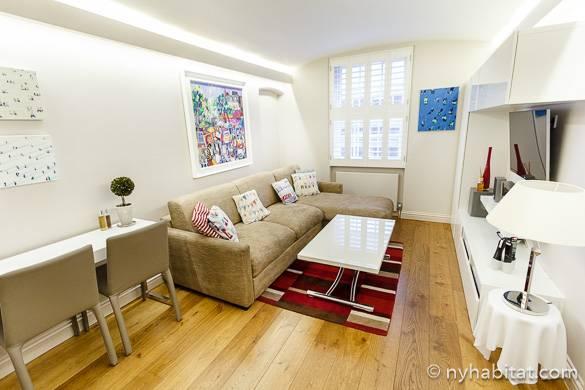 Immagine del soggiorno dell´appartamento in affitto LN-1487 a Bloomsbury, Londra